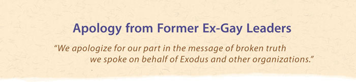 Header for apology letter from former Exodus leaders