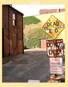 Image of dead end sign