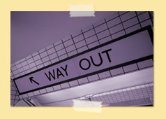 "Image of ""Way Out"" subway sign"