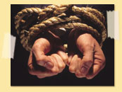 Image of bound hands