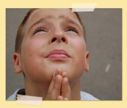 Praying boy photo