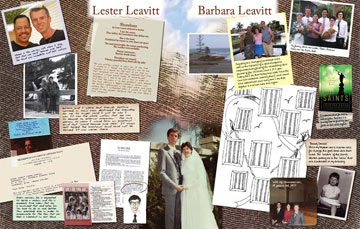 Lester and Barbara Leavitt's Collage