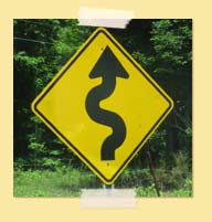 Sign with curves