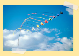 Image of a rainbow kite