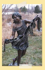 Image of bronze girl statue